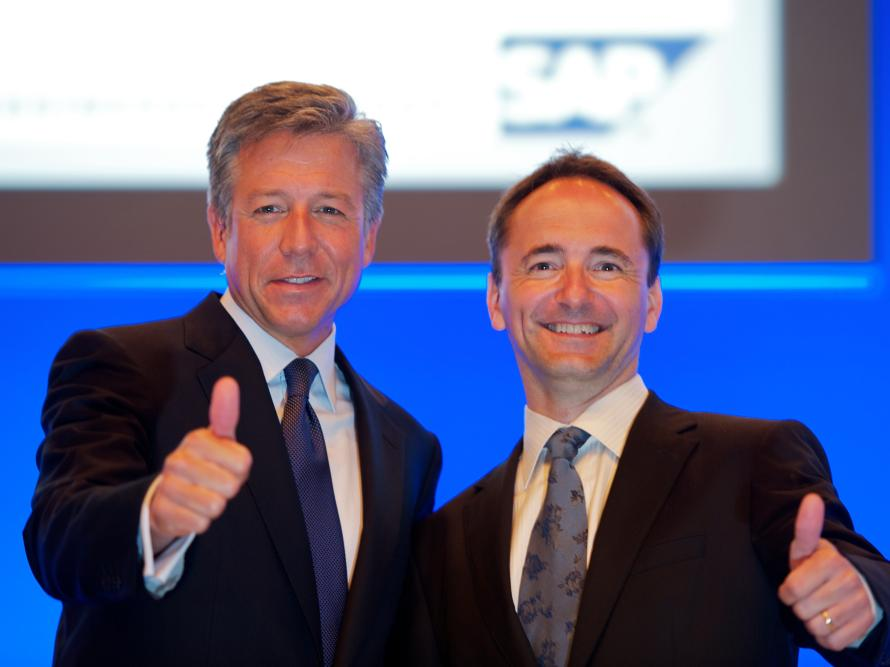 Bill McDermott and Jim Hagemann Snabe SAP