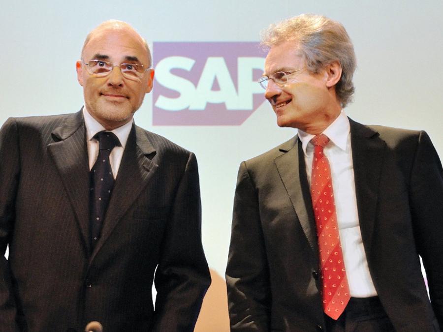 Leo Apotheker et Henning Kagermann SAP